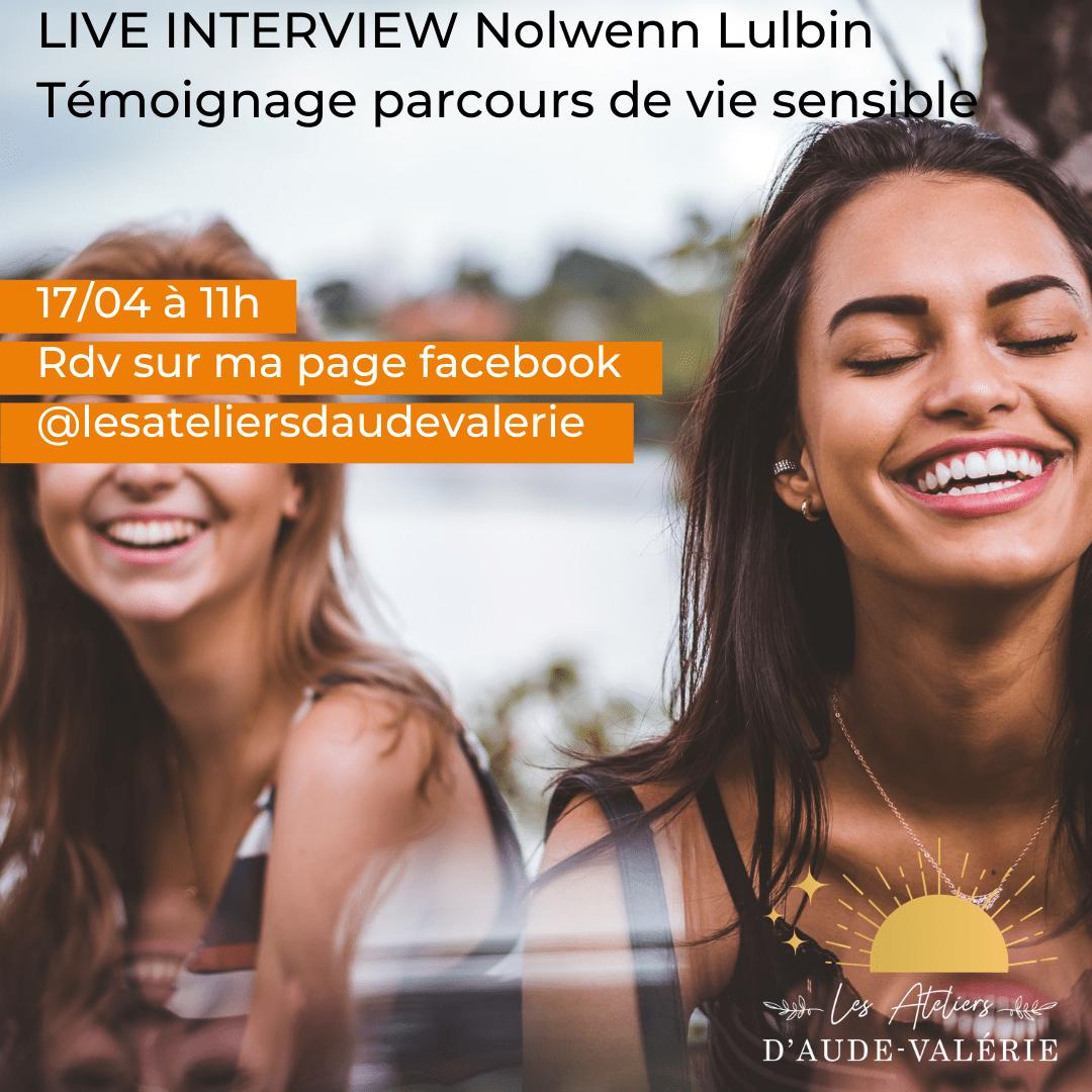 Live interview Nolwenn Lulbin